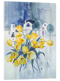 Acrylic print  View with tulips - Franz Heigl