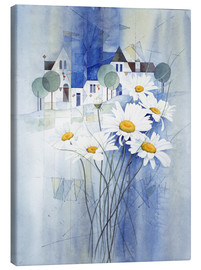 Canvas print  View with marguerites - Franz Heigl