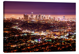Canvas print  Los Angeles at night - Daniel Heine