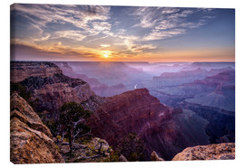 Canvas  Sunset at Grand Canyon - Daniel Heine