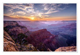 Premium poster  Sunset at Grand Canyon - Daniel Heine