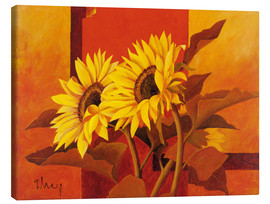 Canvas print  Two sunflowers III - Franz Heigl