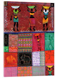 Acrylic print  Patchwork Africa - Eugen Stross