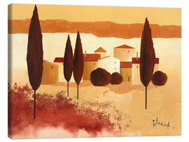Canvas  Small mediterranean village - Franz Heigl