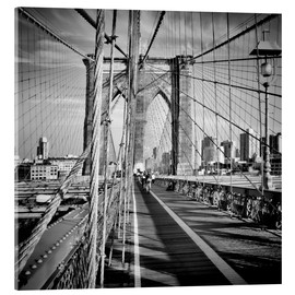 Acrylic glass  NYC Brooklyn Bridge Flair - Melanie Viola
