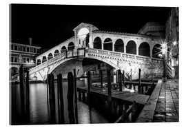 Acrylic print  VENICE Rialto Bbridge at Night - Melanie Viola