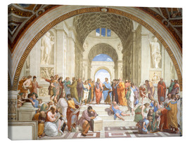 Canvas print  The School of Athens - Raffael