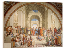 Wood print  The School of Athens - Raffael
