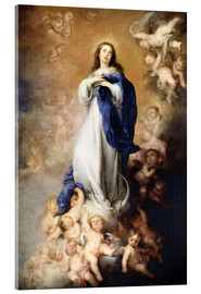 Acrylic glass  Immaculate Conception of Mary - Bartolome Esteban Murillo