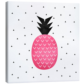 Canvas  Pink Pineapple - Elisabeth Fredriksson