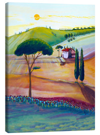 Canvas print  Tuscany is beautiful - Christine Huwer