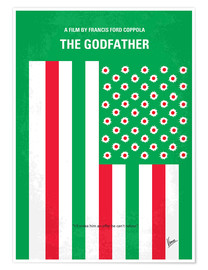 Premium poster No028 My Godfather minimal movie poster