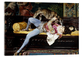 Acrylic print  A Young Page, Playing with a Greyhound - Giovanni Boldini