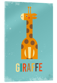 Acrylic glass  Baby Giraffe for the nursery - Petit Griffin