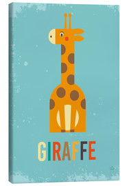 Canvas print  Baby Giraffe for the nursery - Petit Griffin