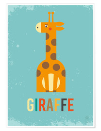 Poster  Baby Giraffe for the nursery - Petit Griffin