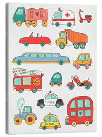 Canvas  So many cars for the nursery - Petit Griffin