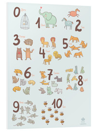 Foam board print  Number of animals - Petit Griffin