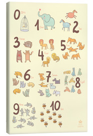 Canvas print  Zoological numbers for nursery - Petit Griffin