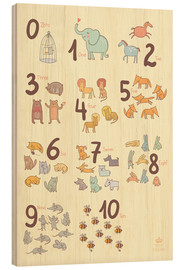 Wood print  Number of animals - Petit Griffin