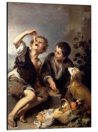 Aluminium print  The pie eaters - Bartolome Esteban Murillo