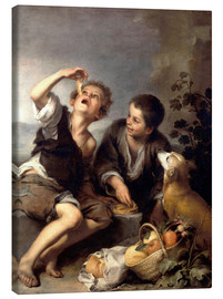 Canvas print  The pie eaters - Bartolome Esteban Murillo