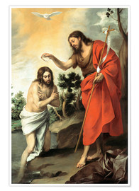 Premium poster The baptism of christ