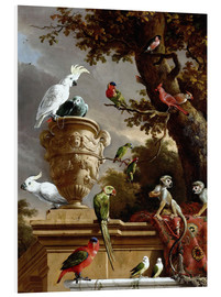 Foam board print  The Menagerie - Melchior de Hondecoeter