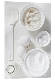 Acrylic print  Country home baking ingredients - K&L Food Style