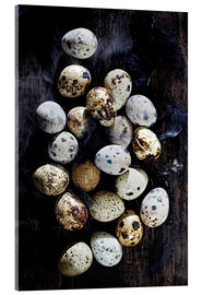 Acrylic print  Quail eggs on Ebony - K&L Food Style