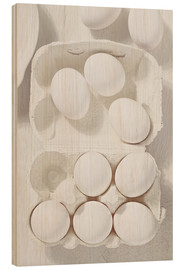 Wood print  egg shell - K&L Food Style