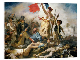 Acrylic print  Liberty leading the people - Eugene Delacroix