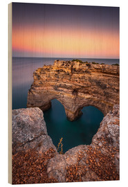Wood print  Heart of the Algarve (Praia da Marinha / Portugal) - Dirk Wiemer