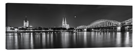 Canvas print  Cologne skyline panorama - rclassen