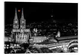 Acrylic print  Blutmond over the Cologne Cathedral - rclassen