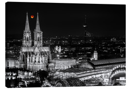 Canvas  Blutmond over the Cologne Cathedral - rclassen