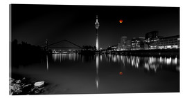 Acrylic print  Dusseldorf media harbor with Blutmond - rclassen