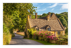 Premium poster Cottage in the Cotswolds (England)