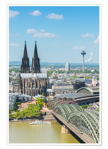 Premium poster Cologne Cathedral (Cathedral of St. Peter)