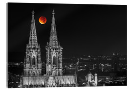 Acrylic print  Blood Red Moon Cologne Cathedral - rclassen