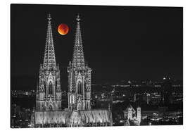 Aluminium print  Blood Red Moon Cologne Cathedral - rclassen