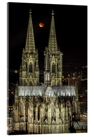 Acrylic print  Blood moon shines over Cologne Cathedral - rclassen