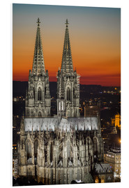 Foam board print  cathedral of cologne - rclassen