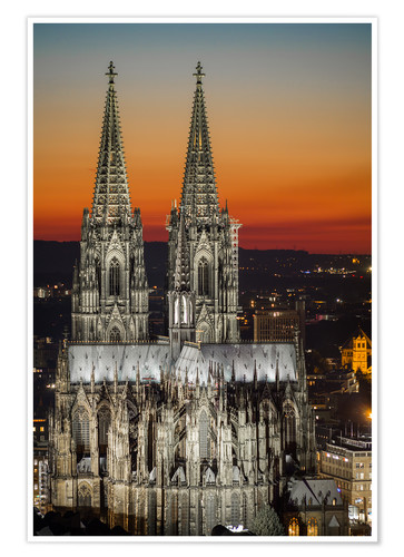 Premium poster cathedral of cologne