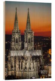 Wood print  cathedral of cologne - rclassen
