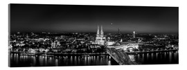 Acrylic print  Panorama of the Cologne skyline, Germany - rclassen