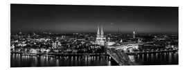 Foam board print  Panorama of the Cologne skyline, Germany - rclassen