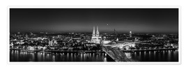 Premium poster  Panorama of the Cologne skyline, Germany - rclassen