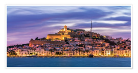 Premium poster The castle of Ibiza
