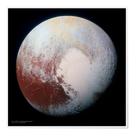 Premium poster  Pluto, seen by New Horizons spacecraft - Sascha Kilmer
